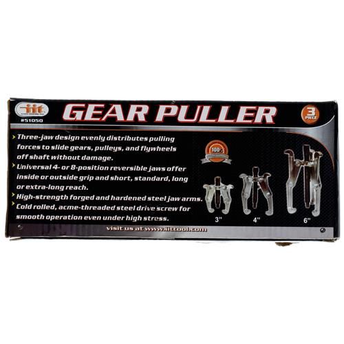 "Wholesale 3pc Gear Puller Set 3""- 4"" - 6"""
