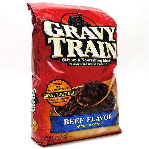 Gravy Train dog food is owned by Big Heart Pet Brands / J.M. Smucker Company. It was the first to advertise that mixing its dog food with water created a gravy that dogs couldn't get enough of. Big Heart proudly proclaims its belief in integrity, courage and action to make the best choices for pets.