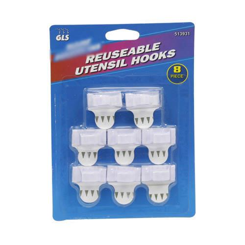 Wholesale Reusable Utensil Hooks 8 pack.