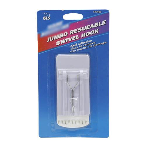 "Wholesale Jumbo Reusable Swivel Hook 3.75 x 2 x.75""."