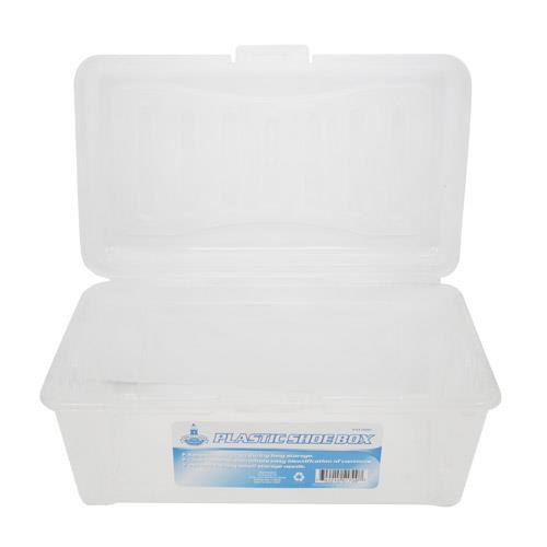 Wholesale PLASTIC SHOE BOX FLIP TOP LID