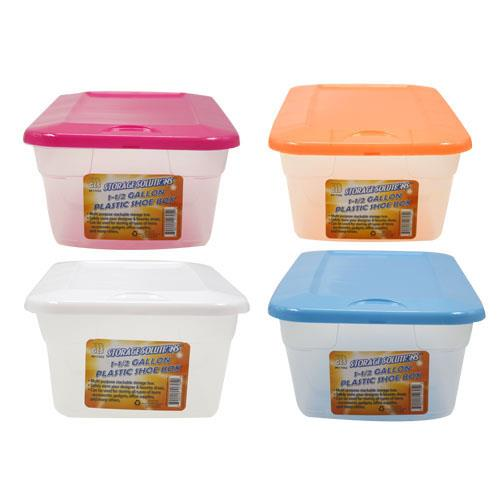 Wholesale 1.5 GALLON PLASTIC SHOE BOX