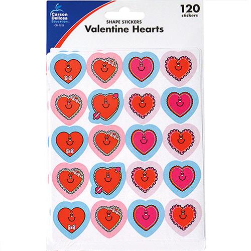 Wholesale 120CT VALENTINE HEART STICKERS