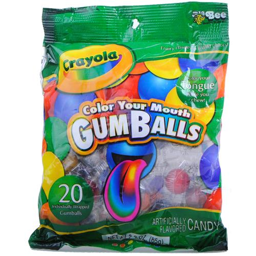 Wholesale Crayola Color Your Mouth Gumballs 20 Ct