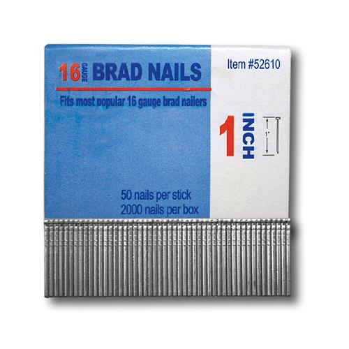 "Wholesale 16G 1"" BRAD NAIL 2000 COUNT"