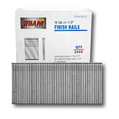 "Wholesale 16G 1.5"" FINISH NAIL 2000 CT"