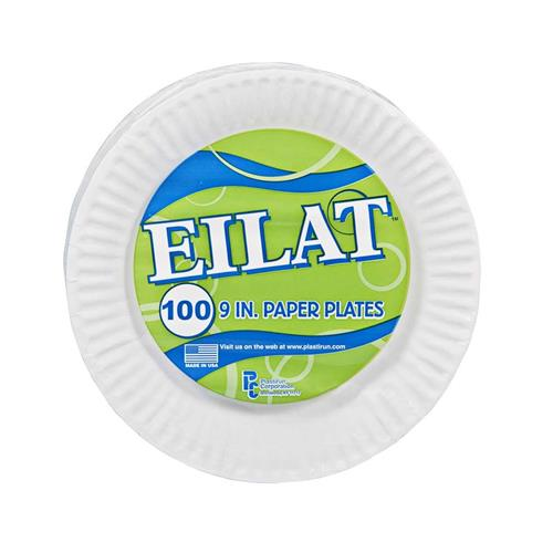 Wholesale 100 ct White Paper Plates 9 in. by Eilat