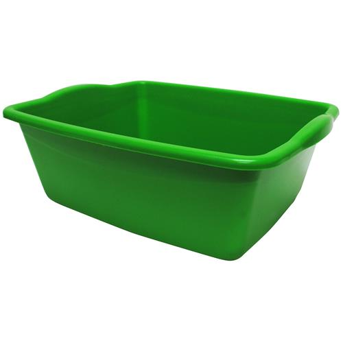 Wholesale Plastic Dish Pan Assorted Colors 14x11.5x5""