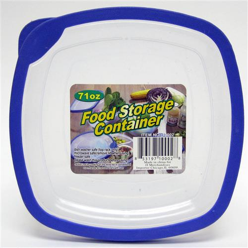 Wholesale Food Storage Container with Rubber Trim Lids 71 oz