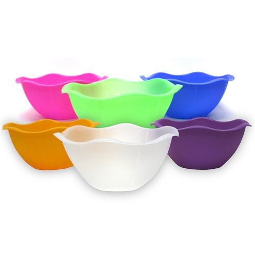Wholesale Serving Bowl with Scalloped Edge-Assorted Colors 1