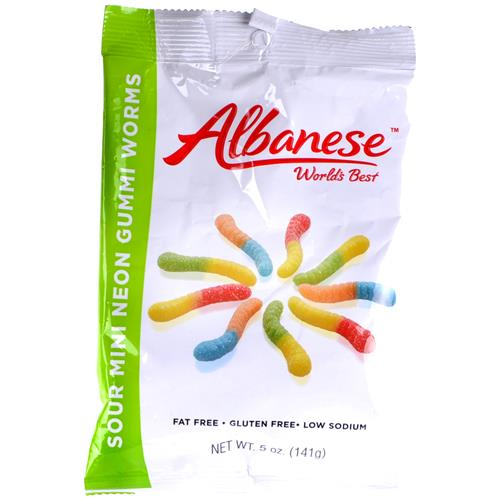 Wholesale Albanese Gummi Mini Sour Neon Worms