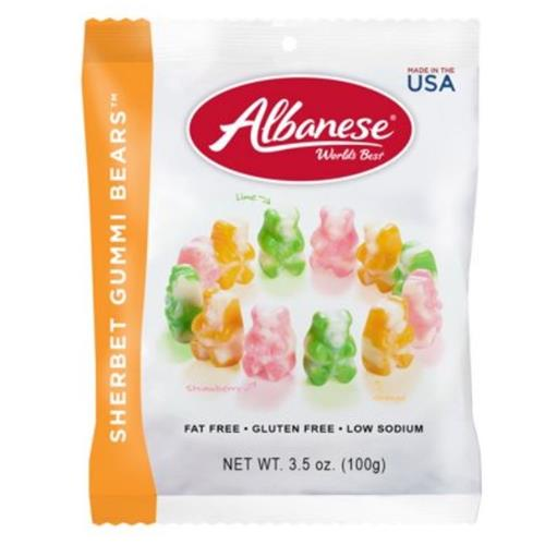 Wholesale Albanese Sherbert Gummi Bears Assort Flavors