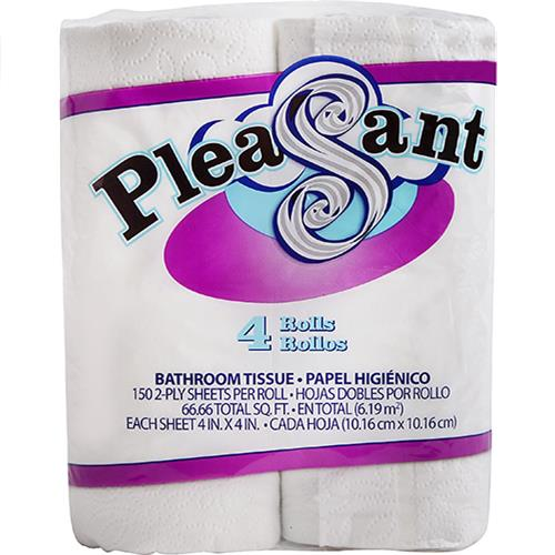 Wholesale Pleasant Bath Tissue 4/150/2 PLY