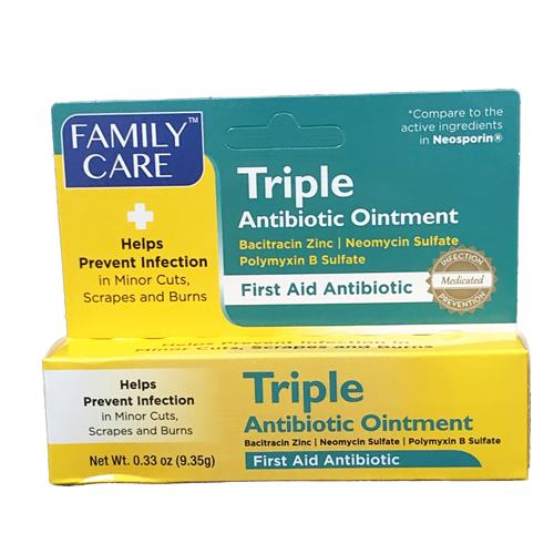 Wholesale Family Care Triple Antibiotic Ointment .33 oz