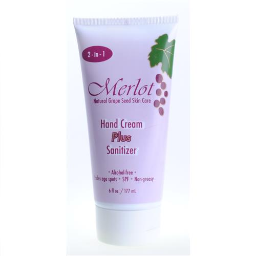 Wholesale Merlot Grape Seed Hand Cream PLUS Sanitizer - Pharmacy quality