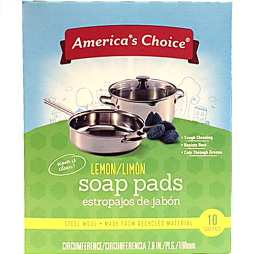 Wholesale American Choice Lemon Steel Wool Soap Pads (SOS)