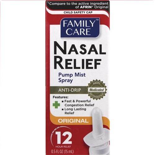 Wholesale Family Care Nasal Spray Original 0.5oz (Afrin)