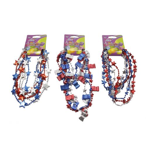Wholesale 3PK PATRIOTIC PARTY NECKLACES