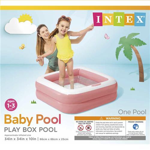"Wholesale Play Box Pools Pink/Green 33.5x33.5x9"""