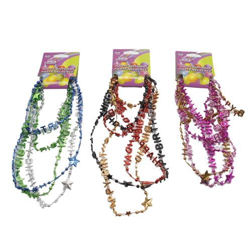 Wholesale 3pk BIRTHDAY PARTY NECKLACES