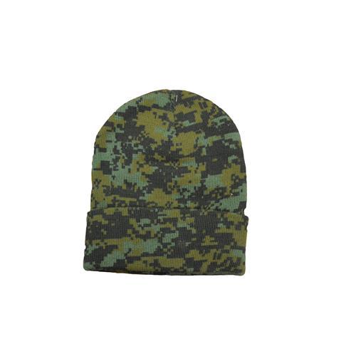 Wholesale WOODLAND DIGITAL CAMO KNIT CAP