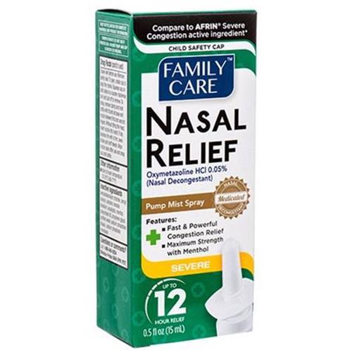 Wholesale Family Care Nasal Spray Original 0.5oz (Afrin Severe Congestion)