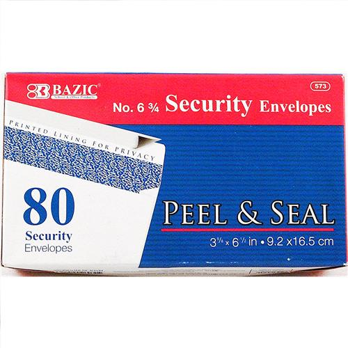 Wholesale Envelopes - Peel & Seal - White - Security - Bazic