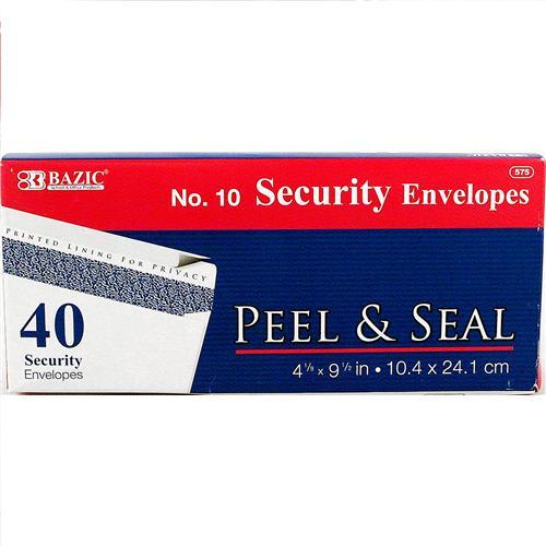 Wholesale Envelopes - Peel & Seal - White - Security - Bazic