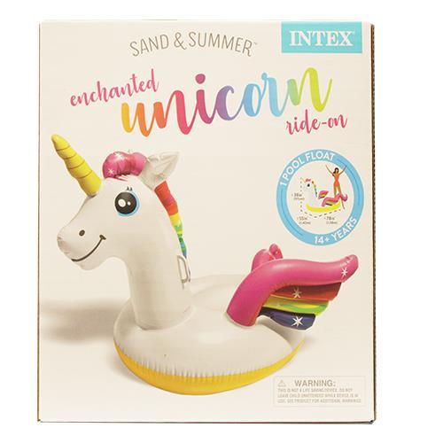 "Wholesale Unicorn Ride-On Float 79""L x 55""W x 38""H."