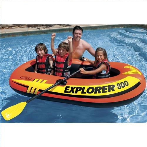 Wholesale Explorer 300 - Inflatable Boat - With Oars & Pump. by Intex
