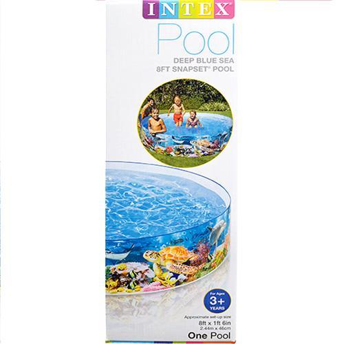 "Wholesale Snap Set 8' x 18"" Pool Deep Blue Sea."