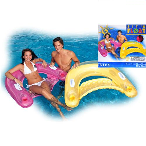 "Wholesale Sit 'N Float Inflatable Floating Lounge 60"" By Intex"