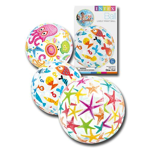 Wholesale Lively Print Beach Ball Assorted 24""
