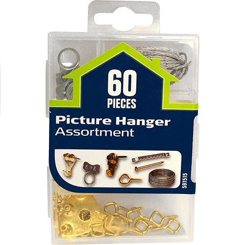 Wholesale 60pc Picture Hanger Assortment
