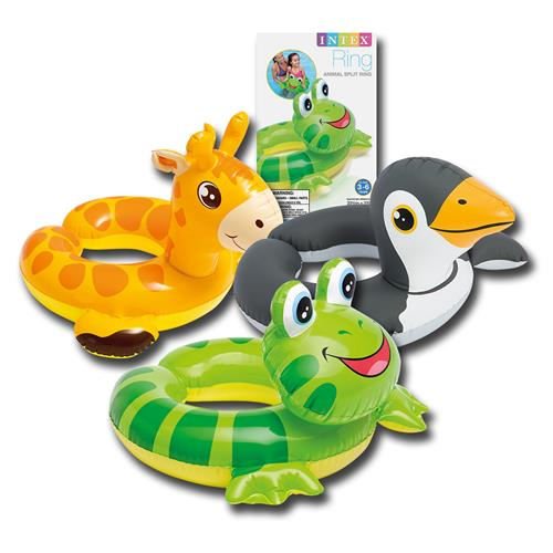 Wholesale Animal Split Swim Ring Assorted Ages 3-6