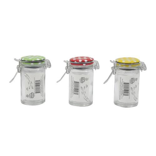 Wholesale LOCKING-LID GLASS SPICE JARS