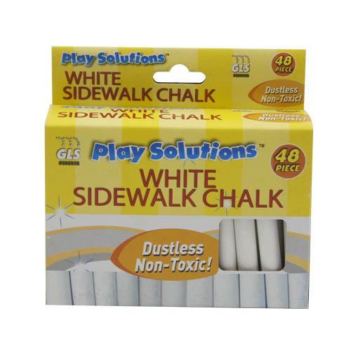 Wholesale 48pc WHITE SIDEWALK CHALK