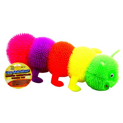 Wholesale LIGHTED CATERPILLAR SQUISH TOY