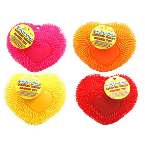Wholesale LIGHTED HEART SQUISH TOY