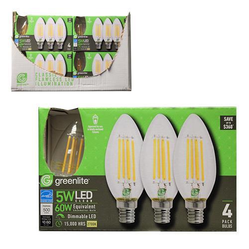 Wholesale 4PK 5=60W LED CHANDALIER BULB E11 BASE