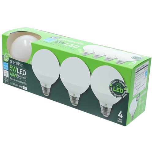 Wholesale 4PK 5=40W LED G25 GLOBE BULBS WARM WHITE