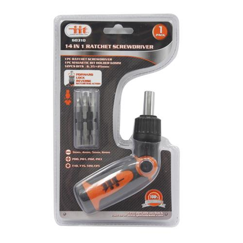 Wholesale 14-in-1 RATCHETING SCREWDRIVER