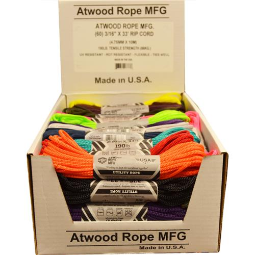 Wholesale 3/16 x 33' UTILITY ROPE 190LB USA MADE