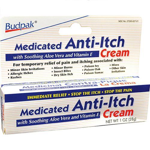 Wholesale Bud Pak Medicated Anti-Itch Cream