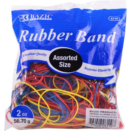 Wholesale Rubber Bands Assorted Sizes and Colors 2oz