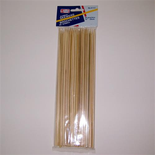 Wholesale Bamboo Skewers Extra Thick-10""