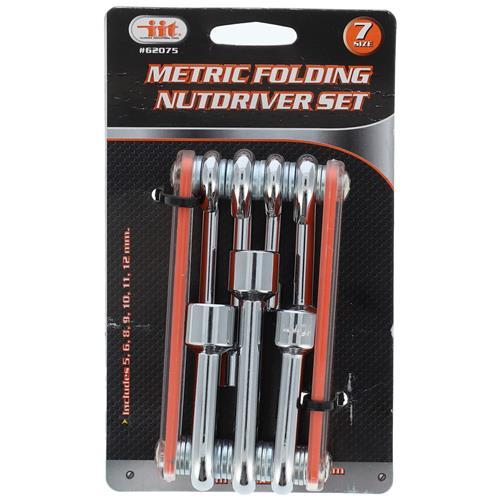 Wholesale 7pc Folding Nut Driver Metric