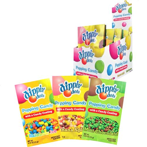 Wholesale Display-Dippin Dots Popping Candy-3 ass't flavors