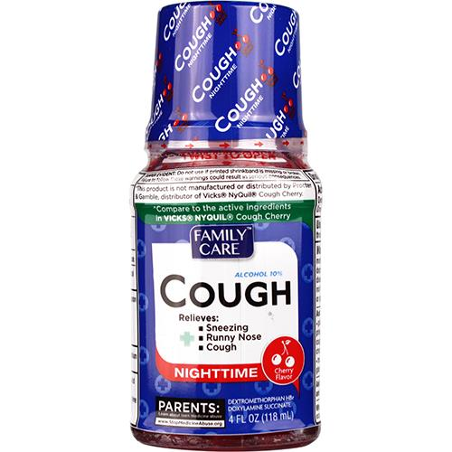 Wholesale Family Care nightime cold syrup- Cherry Flavor
