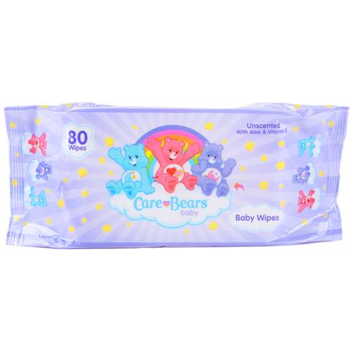 Wholesale Care Bears Baby Wipes Unscent with Aloe & Vitamin